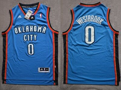 NBA Russell Westbrook #0 Oklahoma City Thunder REV30 blue swingman jersey S/M/L