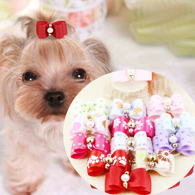 10PCS Pet Dog Hair Clips Bow Tie Dog Grooming Accessories Cute Bowknot For Dogs