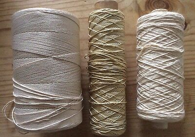 Group of vintage cotton, Mercerised Cotton And Other Macrame cords/threads