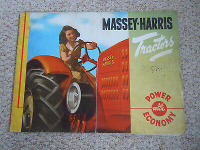 "@Vintage Massey Harris Tractors ""Power with Economy"" Brochure-27 Pages-Original@"