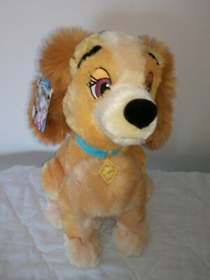 Disney Store London Exclusive Lady And The Tramp Lady app 14 inch Plush Soft Toy