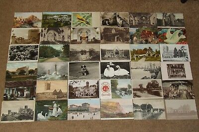 Collection job lot topographical & other vintage postcards lot 4