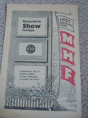 @Vintage Massey Harris 1957 Show Catalogue-Agricultural Show Farming Tractor@