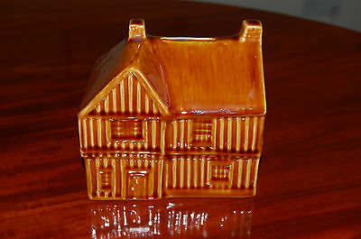 Holkham Pottery Brown Glazed House Money Box . Perfect Condition.