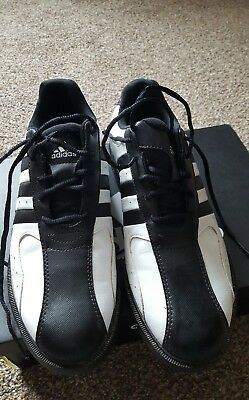 Adidas Z-Traxion mens Golf shoes White/Black UK 7 EU 40 Boxed Immaculate