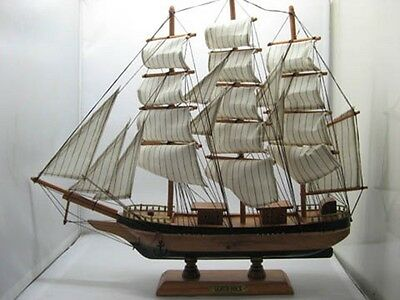 New Wooden Gorch Fock SailBoat Collectable Ornament