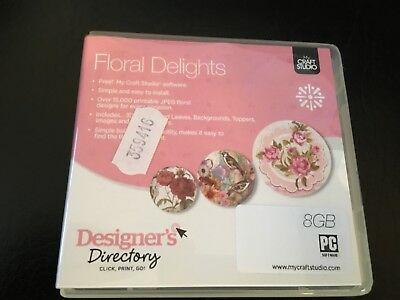Floral Delights USB Designers Directory My Craft Studio Free P&P