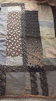 Antique Patchwork Quilt - Heavy - 176 Cms By 130 Cms - A/f