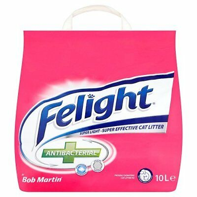 Bob Martin Felight Antibacterial Cat Litter 10L Ultimate Odor Control Brand New