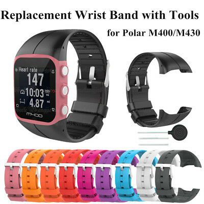 Silicone Sports Smart Watch Wrist Strap Replace Band W/ Tool for Polar M400/M430
