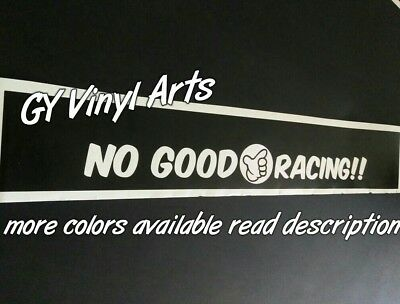 No Good Racing Windshield Cars Sun Visor Strip Banners Cars Stickers Decals Jdm