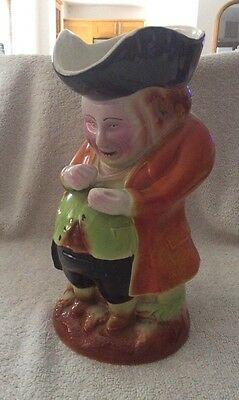 Large Vintage Pottery Squire Toby Jug, Made In England