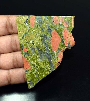 278.70 Cts. 100 % Natural Unakite Jasper  Huge  Rough Slab For Making Cabochons