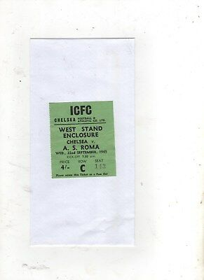 USED TICKET (CHELSEA v A.S.ROMA  (FAIRS CUP--1st Round-1st Leg) 1965/66