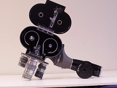Rexer 157-Te Electric 8Mm Movie Camera With Three Rexer Lenses In Case