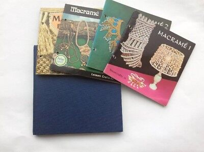 Five Macrame Leisurecraft Booklets And A Book On Macrame