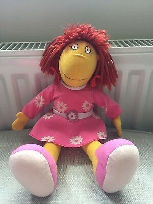Collectable Tweenies BBC 1998 Fizz Flowery Dress Outfit Soft Toy Approx 40 cm
