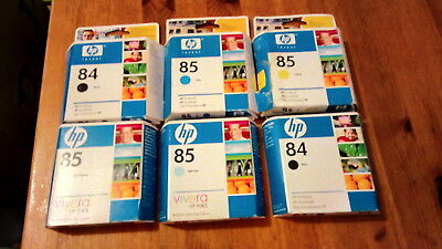 HP 84 / 85  Printheads. Job Lot. 6 units, Expired but boxed/sealed. Excellent