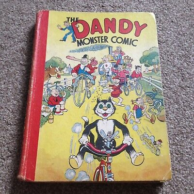 The Dandy Monster comic Book Annual 1943 Amazing condition MUST LOOK beano