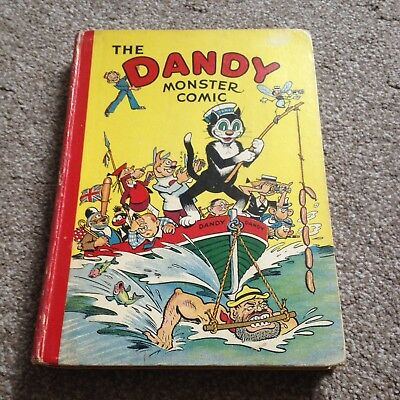 The Dandy Monster comic Book Annual 1942 Amazing condition MUST LOOK beano