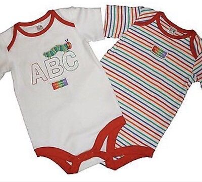 the very hungry caterpillar Baby Body Vests x18
