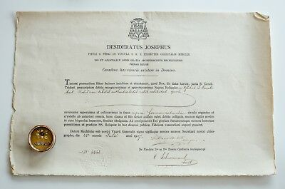 Relic of St. Donatus M. with document