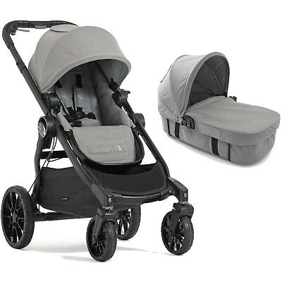 New Baby Jogger Slate Grey City Select Lux Pushchair Stroller & Carrycot Kit
