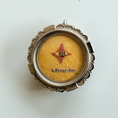 Relic of St. Francis of Assissi with document chalice vestment cope monstrance