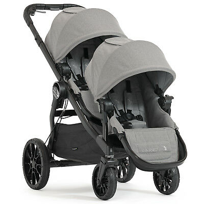Baby Jogger Slate Grey City Select Lux Tandem Pushchair Stroller Double Buggy
