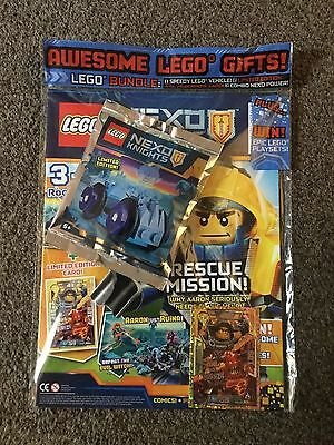 LEGO Nexo Knights  Magazine issue 17 With free gifts including LE12 card
