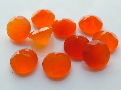 AAA Quality 25 Piece Natural Carnelian 7x7 MM Round Cut Loose Gemstone