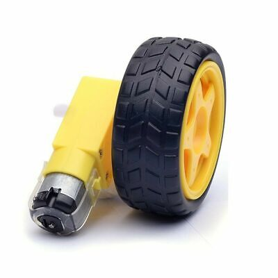 Smart Car Robot Plastic Tire Wheel with DC 3-6v Gear Motor NEW UK Supplier