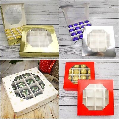 Pick And Mix Sweet Box Empty Window Christmas Packaging Chocolate Tray Boxes