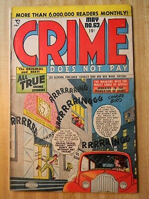 Crime Does Not Pay #63 (Vg) (4.0) (Si-5) Scarce! 1948, Guillotine Story!