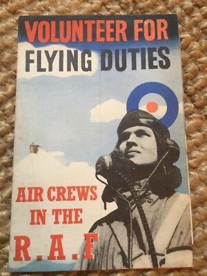 WW2 RAF Volunteer Booklet Original Fold Out Booklet