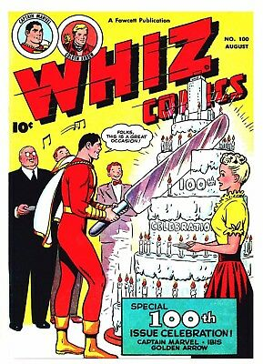 WHIZ COMICS No. 100  -  Facsimile Comic