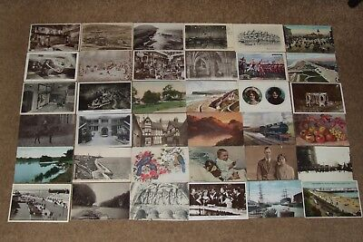 Collection job lot topographical & other vintage postcards lot 13