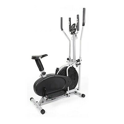 F4H Olympic 125 2in1 Elliptical Cross Trainer Exercise Bike (All Black Model)