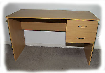 Budget Large 2 Drawer Desk - Beech, Walnut, White - BRAND NEW