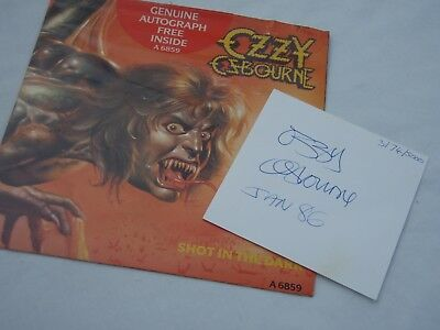 Ozzy Osbourne Ltd Edition Original Signature/autograph With Record Sleeve 1986.