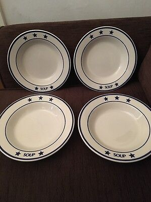 Homer Laughlin China Set Of 4 Large Soup Bowls USA