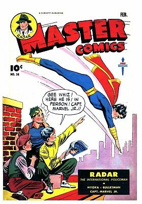 MASTER COMICS No. 58  -  Facsimile Comic