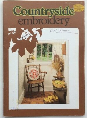 Countryside Embroidery, Booklet With Four Transfers, Designs And Instructions