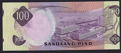 """Philippines ERROR 100 Pesos ABL """"SHIFTED to RIGHT"""" image Uncirculated"""
