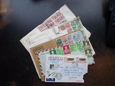 China - 5 commercially used non-philatelic covers. All with faults.