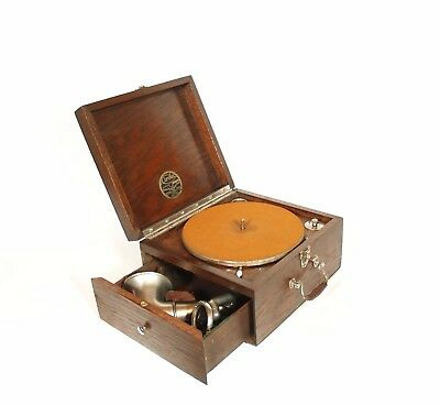 Near Mint 1916 Cirola Phonograph w/Two-Way Reproducer & Exposed Down-Firing Horn
