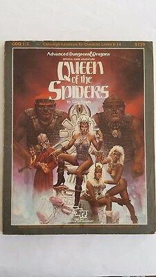 "Rare Gdq 1-7 "" Queen Of The Spiders"" Ad&d Supermodule # 9178 Tsr 1986 Complete"