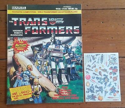The Transformers 2, Marvel Uk, 4Th Oct 1984, High Grade, With Free Transfers!!