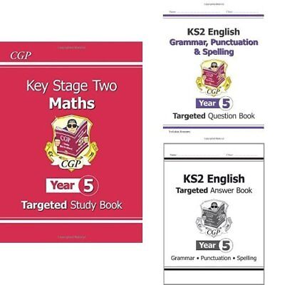 KS2 Maths Targeted Study Book - Year 5 by CGP Books New Paperback Book