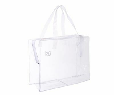 Travel Zip Bag Clear Airport  Liquid Toiletries Cabin Holiday Pouch - Large